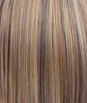Rene of Paris Wigs | BUTTER-PECAN | Light Golden Blonde base with Brown and Medium Auburn evenly blended lowlights