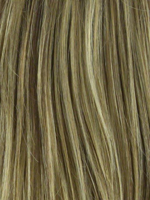 Noriko Wigs | BUTTER PECAN-R Rooted Dark Blonde with Light Golden Blonde Base Evenly Blended with Brown and Medium Auburn