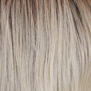 BelleTress Wigs | Bombshell Blonde | 12R/60/881001 | Golden Brown Root with a blend of white, pure blonde and satin blonde