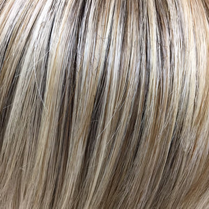 BelleTress Wigs | Butterbeer Blonde | 8R/19/23 | Medium brown root with a blend of sandy blonde, ash blonde and light blonde