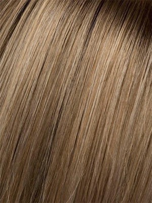 CHAMPAGNE-ROOTED | Light Beige Blonde Medium Honey Blonde and Platinum Blonde blend with Dark Roots