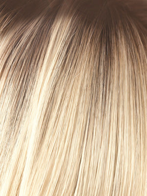 Noriko Wigs | CHAMPAGNE-R | Light Champagne Blonde with Dark Brown Roots