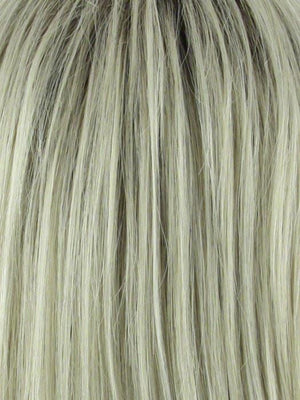 Noriko Wigs | CHAMPAGNE | Platinum Blonde with Dark Brown roots