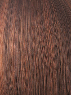 Rene of Paris Wigs | CHESTNUT | Dark and Bright Auburn evenly blended