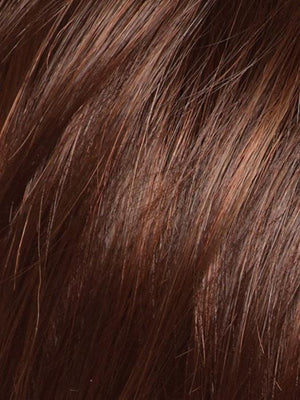 Noriko Wigs | CHESTNUT | Dark and Bright Auburn Evenly Blended