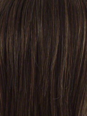 Envy Wigs | CHOCOLATE CARAMEL | Medium Brown with Soft Red and Blonde highlights