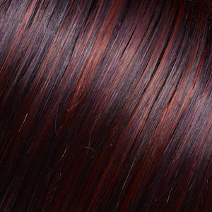Jon Renau Wigs | FS2V/31V CHOCOLATE CHERRY | Black/Brown Violet, Medium Red/Violet Blend with Red/Violet Bold Highlights