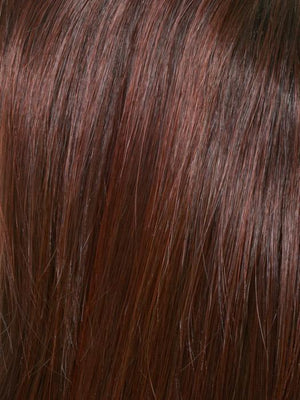 Envy Wigs | CHOCOLATE CHERRY | Dark Brown roots with overall Medium Brown base with Deep Red highlights