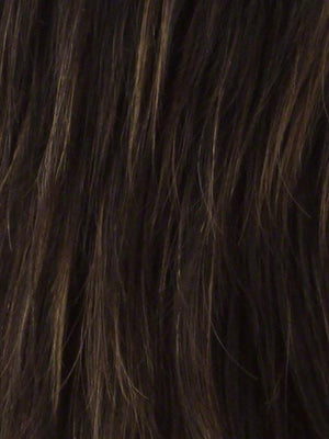 Noriko Wigs | CHOCOLATE SWIRL Dark Brown Base Evenly Blended with Light Auburn and Honey Blonde