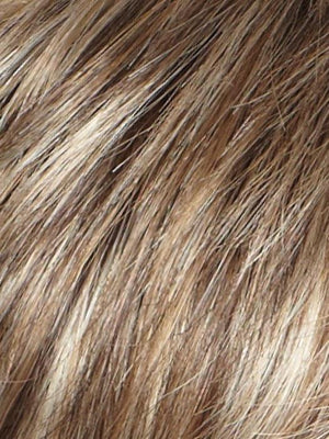 CHOC FROST R Rooted Dark Brown Base with Honey Blonde and Platinum Highlights