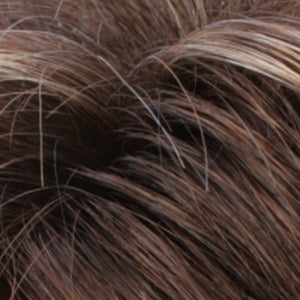 Estetica Wigs | CKISSRT4 | Golden Brown with Copper Blonde Highlights & Dark Brown Roots