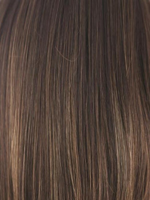Rene of Paris Wigs | COFFEE LATTE | Dark Brown with Evenly Blended Honey Brown Highlights