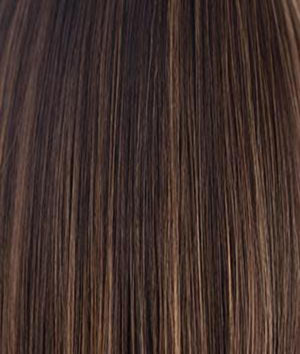 Rene of Paris Wigs | COFFEE-LATTE | Dark Brown & Honey Brown evenly blended highlights