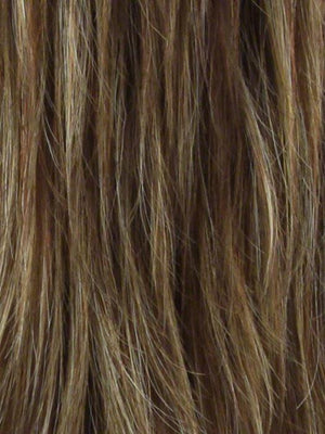 Noriko Wigs | COPPER GLAZE R Rooted Dark Bronzed Brown with Red Gold Highlights
