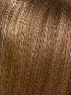Envy Wigs | CREAMED COFFEE | Medium Brown roots and base with Cinnamon and Golden Blonde highlights