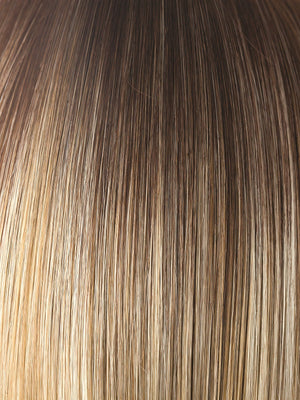 Rene of Paris Wigs | Creamy Toffee-LR | Light Golden Brown with Beige Platinum Highlights and Longer Medium Brown Rooting
