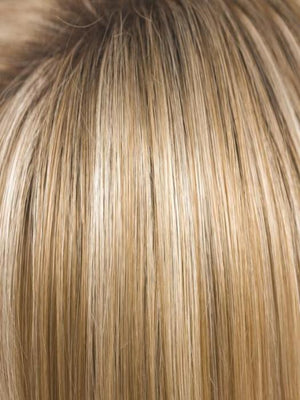 Rene of Paris Wigs | CREAMY TOFFEE R | Rooted Dark Blonde  Evenly Blended with Light Platinum Blonde and Light Honey Blonde