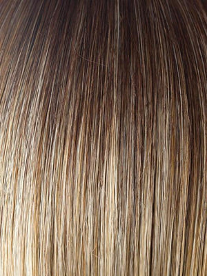 CREAMY-TOFFEE-LR | Light platinum blonde and light honey blonde 50/50 blend with a darker Root