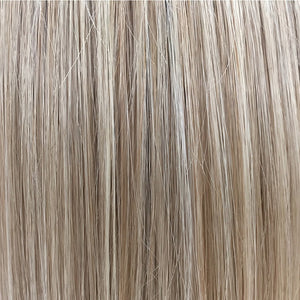 Belle Tress Wigs | Champagne with Apple Pie | 14R/16/613/103 | Light brown blonde root with a mixture of ash blonde, lightest blonde, pure blonde and light neutral blonde