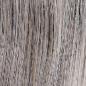 BelleTress Wigs | Chrome | 4R/51/56/60 | Cappuccino brown root with gradual mixture of 30% grey, 10% grey and white at the tip