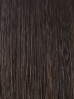 Noriko Wigs | DARK CHOCOLATE | Dark Brown and Medium Brown evenly blended
