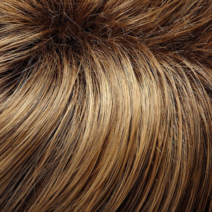 Jon Renau Wigs | 24BT18S8 | Medium Natural Ash and Light Natural Gold Blonde Blend, Shaded with Medium Brown