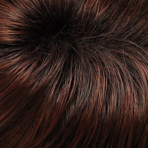 Bree Open Top Wig by Jon Renau DARK BROWN LIGHT PLUM BLEND SHADED W DARK BROWN (131T4S4)