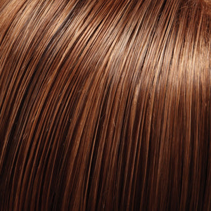 Jon Renau Wigs | 4/27/30 | Darkest Brown Evenly Blended and Tipped with Light Red-Gold Blonde and Red-Gold Blend