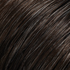 Bree Open Top Wig by Jon Renau DARK BROWN W 5% GREY (34)