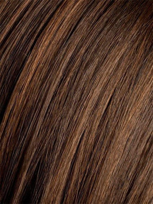 DARK CHOCOLATE ROOTED | Dark Brown base with Light Reddish Brown highlights with Dark Roots