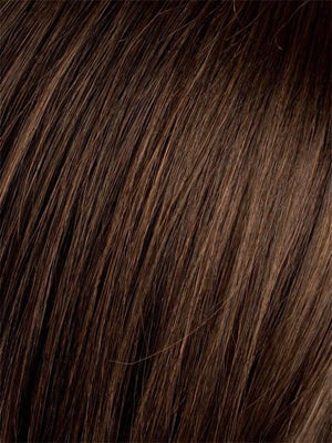 Ellen Wille Wigs | DARK CHOCOLATE ROOTED Dark Brown base with Light Reddish Brown highlights
