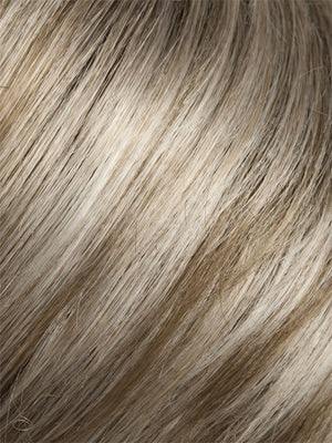 Ellen Wille Wigs | PEARL BLONDE ROOTED | Pearl Platinum, Dark Ash Blonde, and Medium Honey Blonde mix with Dark Roots