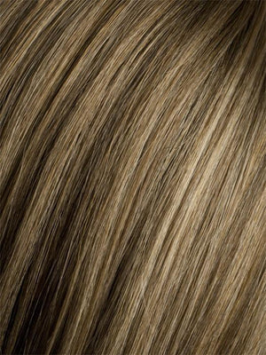 Ellen Wille Wigs | SAND ROOTED | Medium Honey Blonde, Light Ash Blonde, and Lightest Reddish Brown blend with Dark Roots
