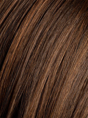 CHOCOLATE MIX | MED TO DARK BROWN BASE WITH LIGHT REDDISH BROWN HIGHLIGHTS