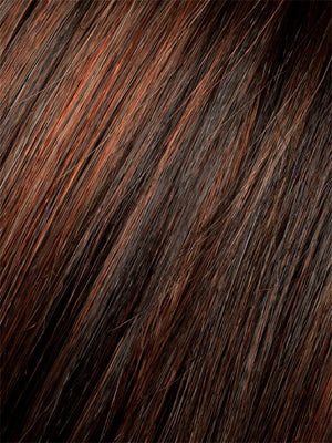Ellen Wille Wigs | Dark Auburn Mix | Dark Auburn, Bright Copper Red, and Dark Brown blend