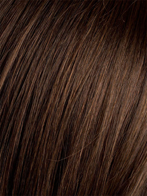 Ellen Wille Wigs | DARK CHOCOLATE MIX | Warm Medium Brown Dark Auburn and Dark Brown Blend