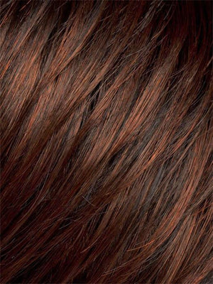 Ellen Wille Wigs | Dark Auburn | Dark Auburn with a Bright Copper Red on top, with a Darkest Brown nape