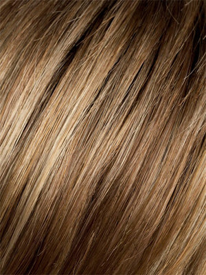 Ellen Wille Wigs | Ginger Rooted | Light Honey Blonde, Light Auburn, and Medium Honey Blonde blend with Dark Roots