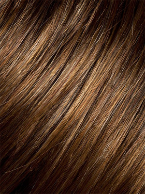 Ellen Wille Wigs | Hazelnut Mix | Medium to Light Reddish Brown blend with Light Auburn on top, with a Medium to Light Reddish Brown nape