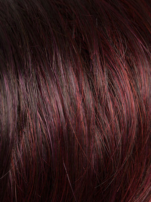 Ellen Wille Wigs | HOT AUBERGINE MIX | Medium Burgundy Red, Dark Burgundy Red, and Darkest Brown Blend
