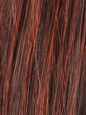 Ellen Wille Wigs - Color HOT-CHILLI MIX | Dark Copper Red Dark Auburn and Darkest Brown blend