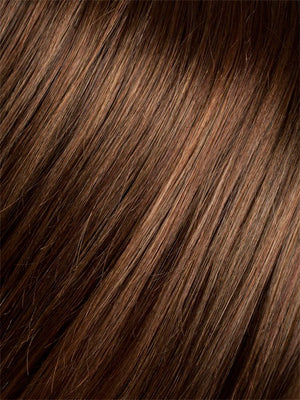 HOT CHOCOLATE ROOTED | Medium Brown Reddish Brown and Light to Medium Auburn blend with dark Roots