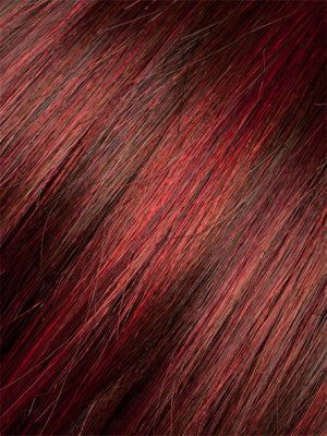 Ellen Wille Wigs | Hot Flame Mix | Bright Cherry Red with Dark Burgundy Red on top, with a Dark Burgundy nape