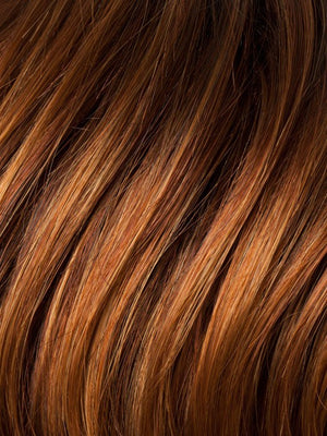 Ellen Wille Wigs | SAFRAN-RED-ROOTED | Dark Copper Red, Copper Red, and Light Copper Red blend with Dark Roots