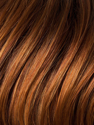 Ellen Wille Wigs | SAFRAN ROOTED | Dark Copper Red, Copper Red, and Light Copper Red Blend with Dark Auburn Roots