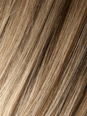 Ellen Wille Wigs | SANDY-BLONDE-ROOTED | Medium Honey Blonde, Light Ash Blonde, and Lightest Reddish Brown blend with Dark Roots