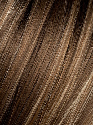 Ellen Wille Wigs | TOBACCO ROOTED | Medium Brown base with Light Golden Blonde highlights and Light Auburn lowlights