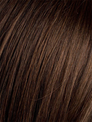 Ellen Wille Wigs | DARK CHOCOLATE ROOTED | Dark Brown base with Light Reddish Brown highlights