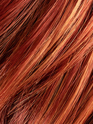 FIREBALL LIGHTED | Bright Burgandy Red Base mixed with Copper Strawberry Blonde Highlights
