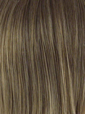 Envy Wigs | FROSTED | Light Brown with Wheat Blonde blended highlights